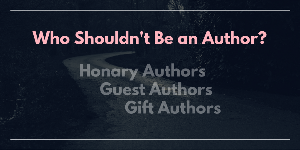 Who Should Not Be a Named Author?