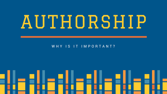 Why is journal authorship important?