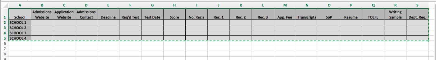 Grad-School-Admissions-Spreadsheet