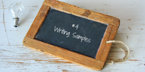 Grad School Apps - Writing Samples
