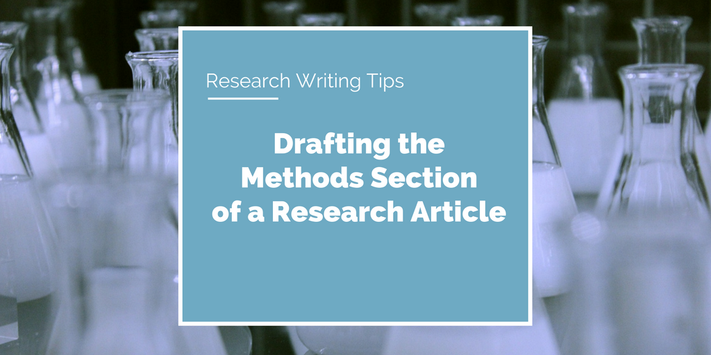 writing a methodology section