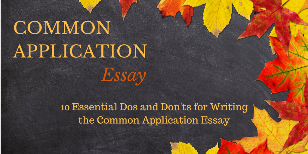 common application essay form