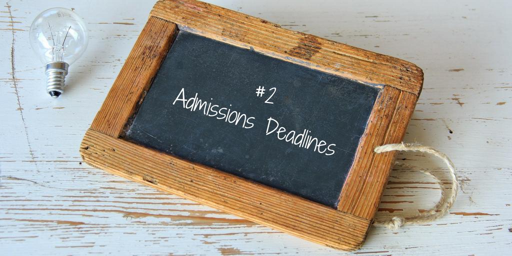 admission deadline
