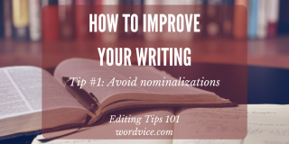 Writing tips on wordiness reduction