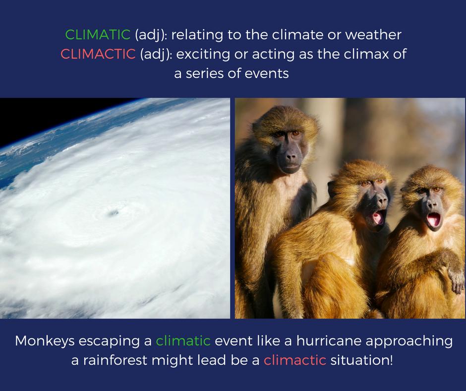 Climatic vs. Climactic