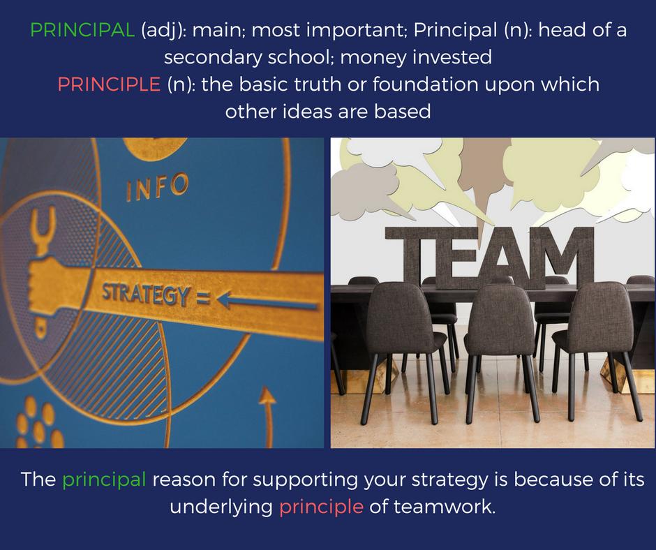 Principal vs. Principle
