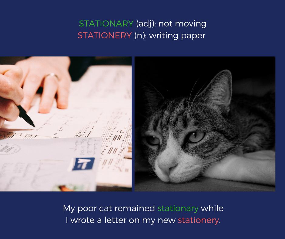Stationary vs. Stationery