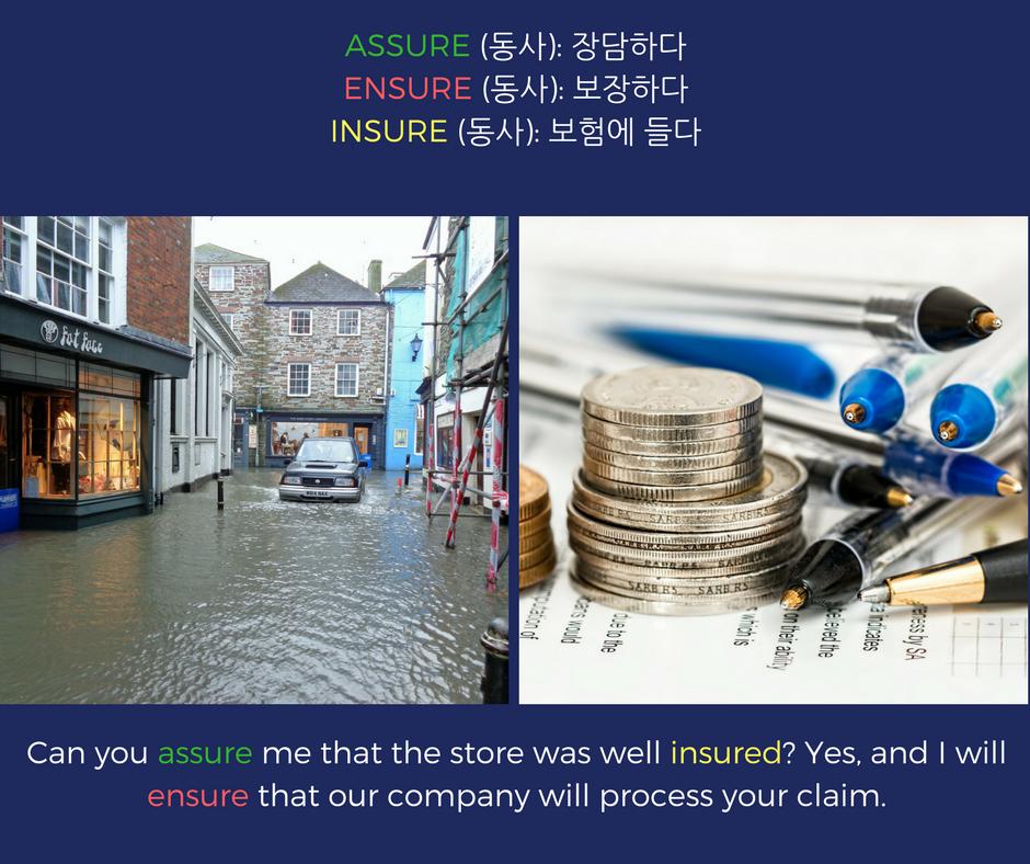 assure ensure insure