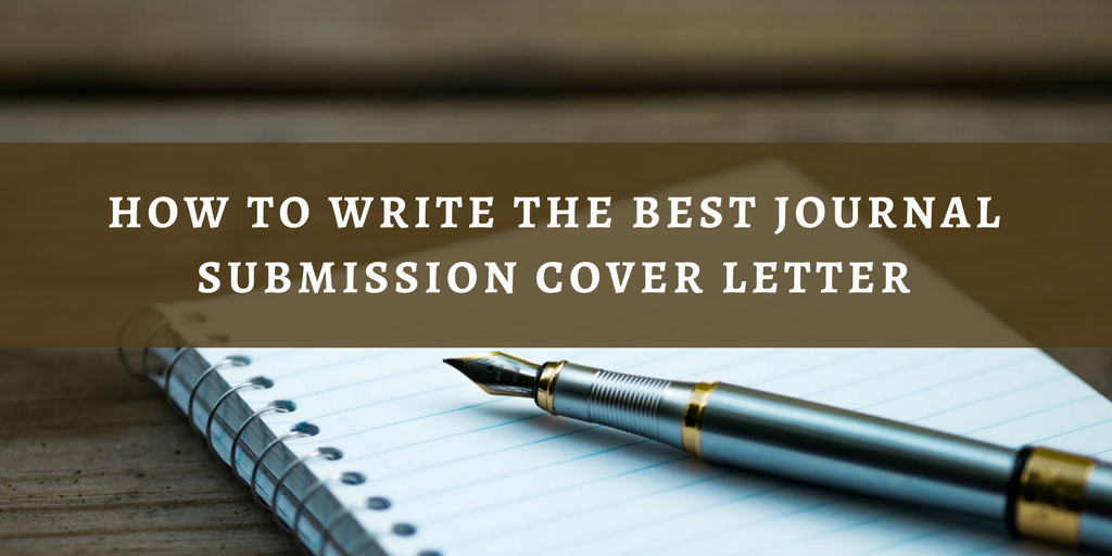 Write cover letter submit paper