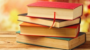 Stack of books on the bench wallpapers and images