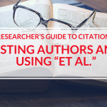 How to Use et al and list authors in cited reference lists