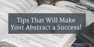 Advice on how to write a good research paper abstract