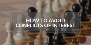 Tips on steps to confirm no conflict of interest and how to disclose conflicts of interest