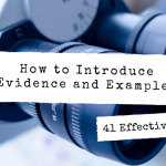 Tips on how to use evidence and support arguments in research papers