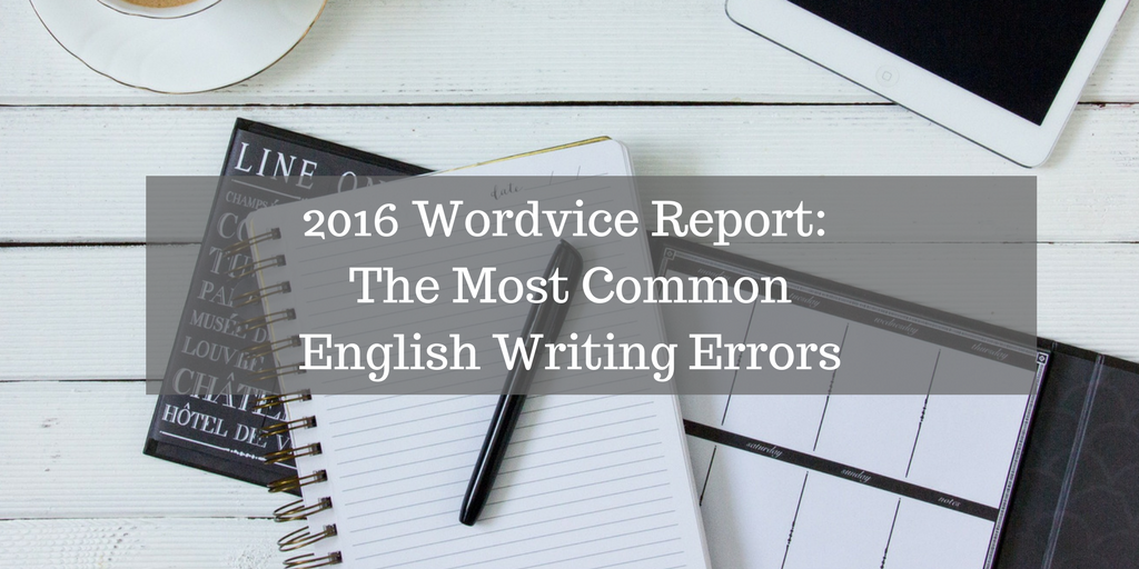 The Most Common English Writing Errors
