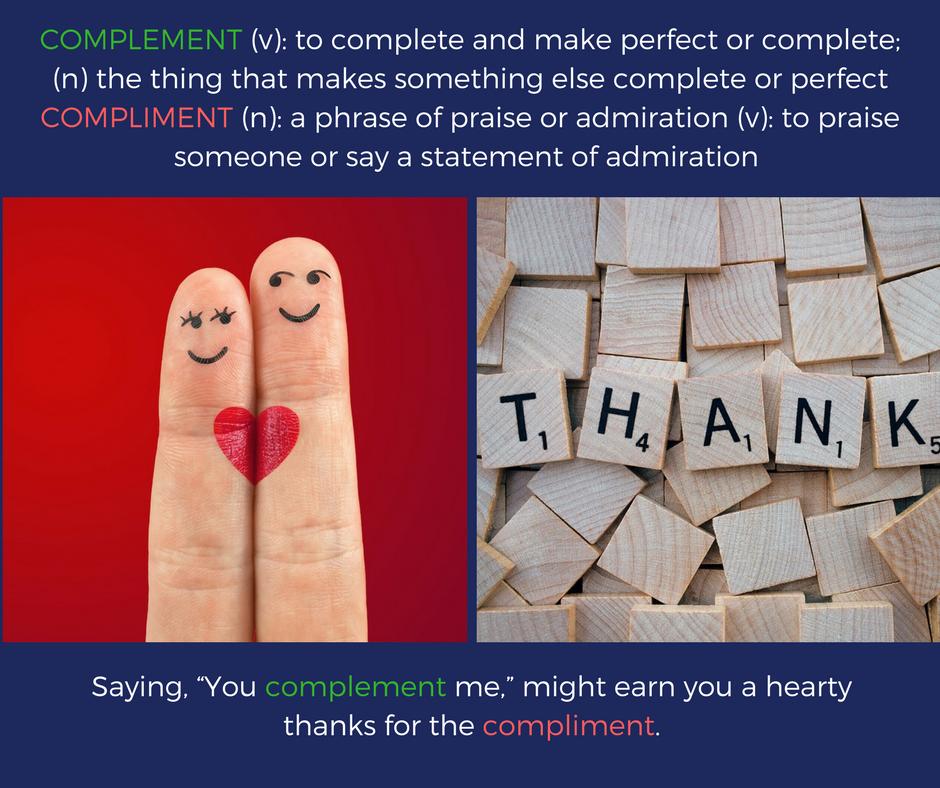 Complement vs. Compliment