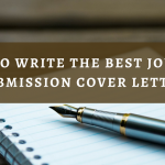 All you should know about writing a strong journal submission cover letter