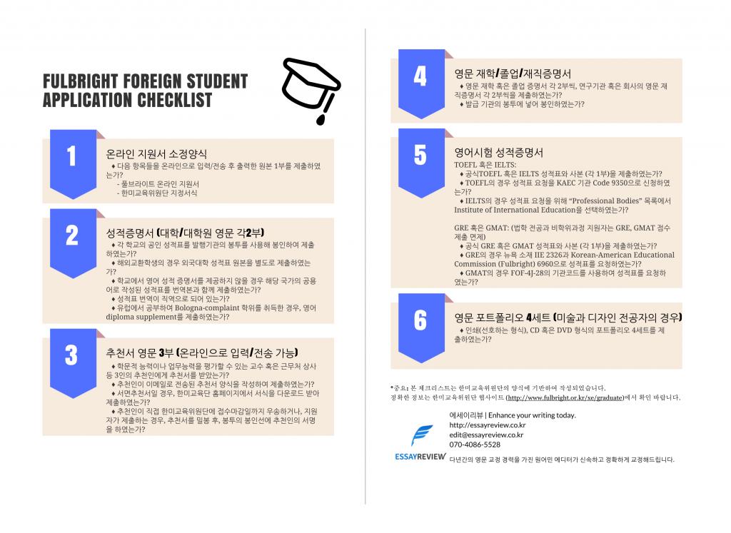 Fulbright Checklist-1