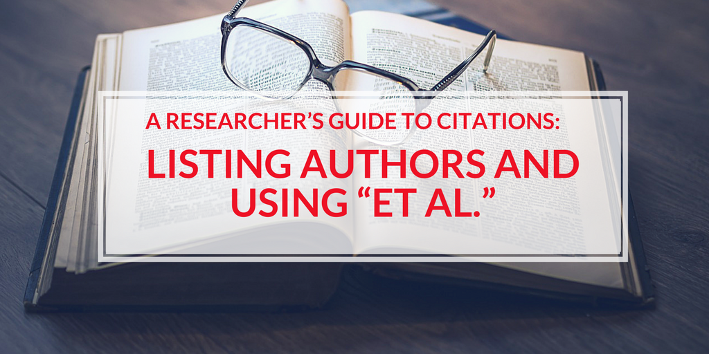 A researchers guide to citations listing authors and using et al how to use et al and list authors in cited reference lists ccuart Images