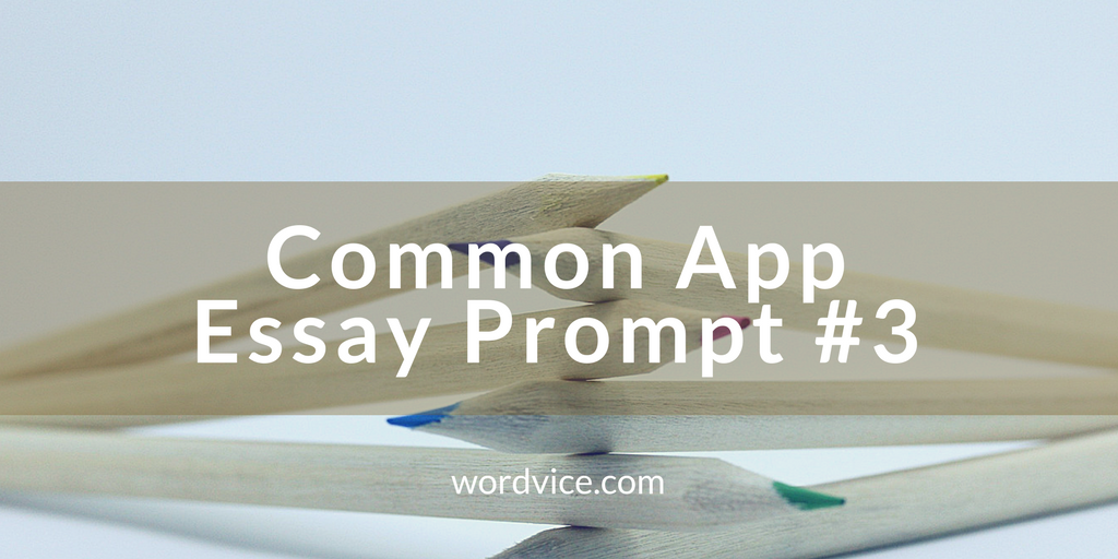College Admissions Essay Advice: Common App Essay #3