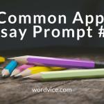 College Admissions Advice: Common App Essay Prompt #4