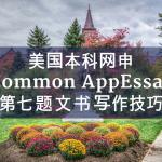 美国本科网申Common AppEssay第七题文书写作技巧