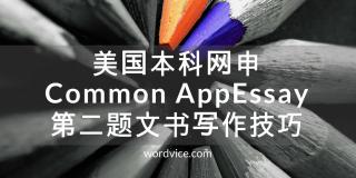 美国本科网申Common AppEssay第二题文书写作技巧