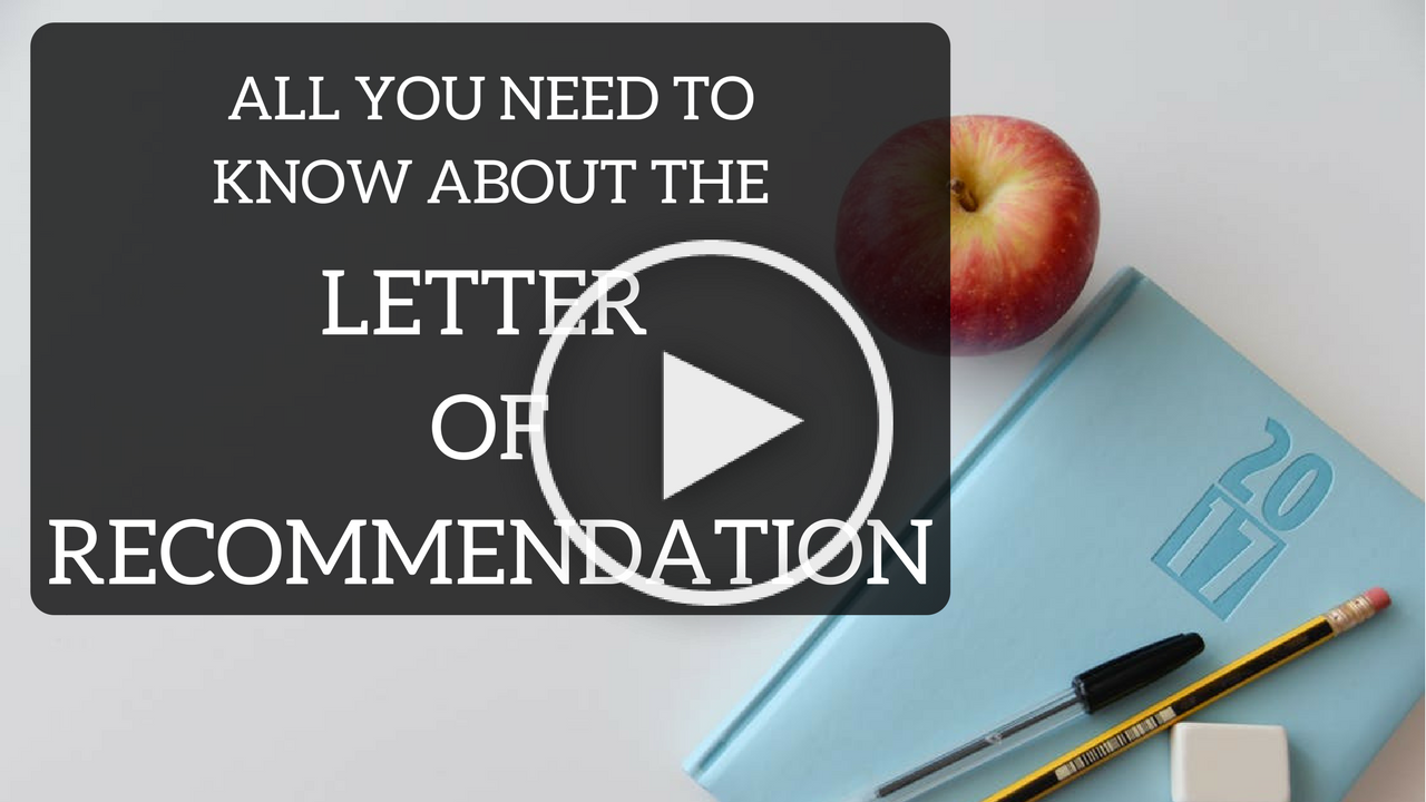 Letter of Recommendation (Play Button)