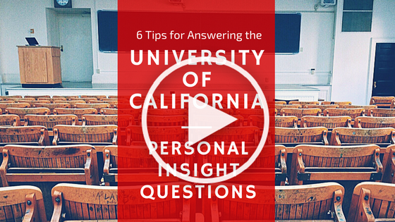 UC Personal Insight Questions (Play Button)