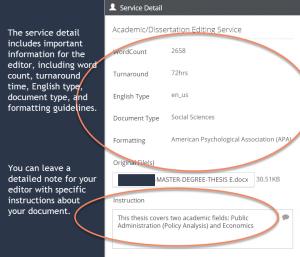 Work Order Service Detail