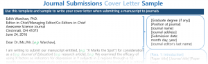 Journal Submissions Cover Letter Sample