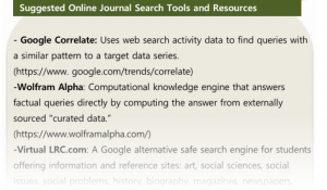 Search Tools and Resources