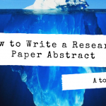 Hot to Write a Research Paper Abstract Image