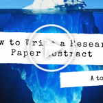 How to Write a Research Paper Abstract (Play Button)