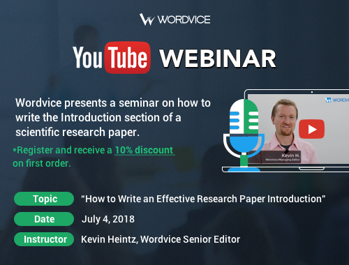 Wordvice Academic Webinar: Writing a Strong Research Paper