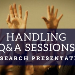 Handling Q&A Sessions in Research Presentations