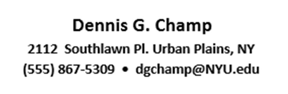 CV Personal Details