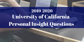 UC Personal Insight Questions 2019-2020