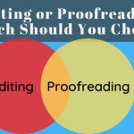 proofreading and editing comparison in a venn diagram