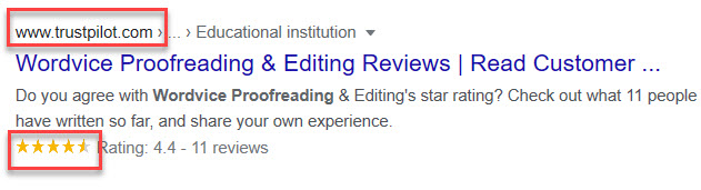 Check Google Star Reviews and Trust Pilot reviews to find the best proofreading services.