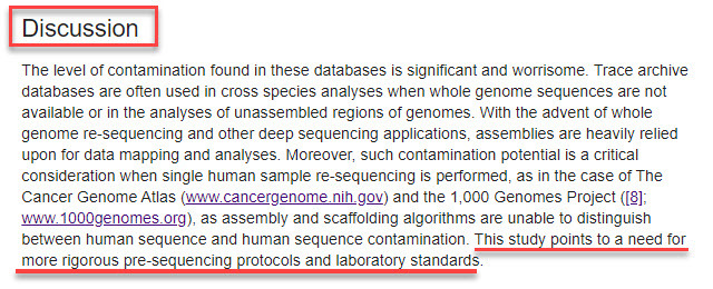 example of a science paper discussion section