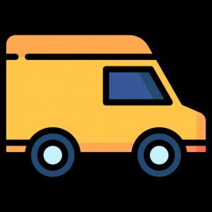 yellow delivery van cartoon