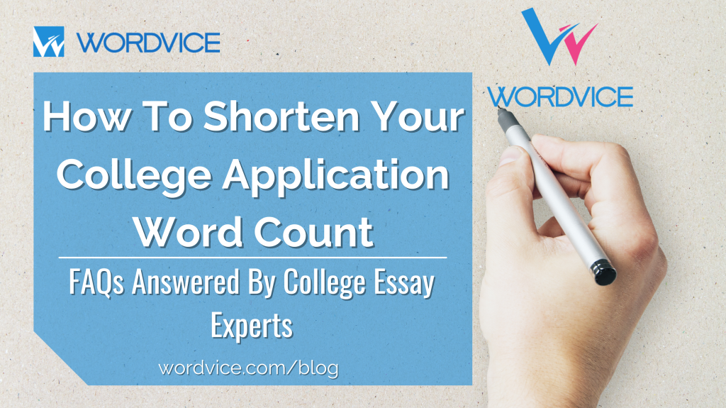 how to shorten your college application word count
