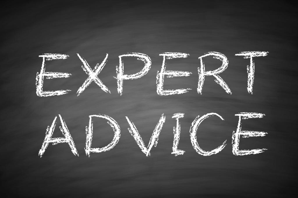"""""""expert advice"""" written on a blackboard"""