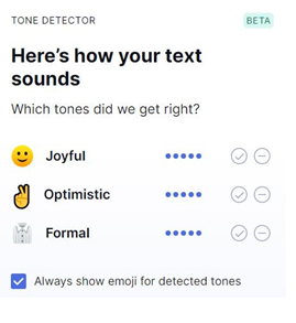 Here's how your text sounds