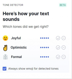 grammarly tone check