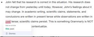 grammarly error example