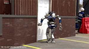 A robot against the wall
