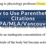 How to Use Parenthetical Citations (1)