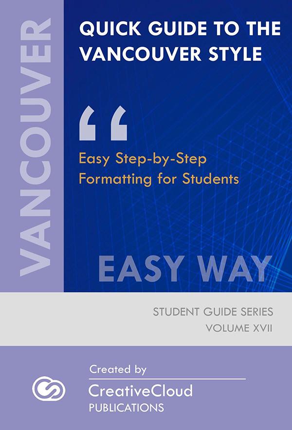 vancouver publication manual
